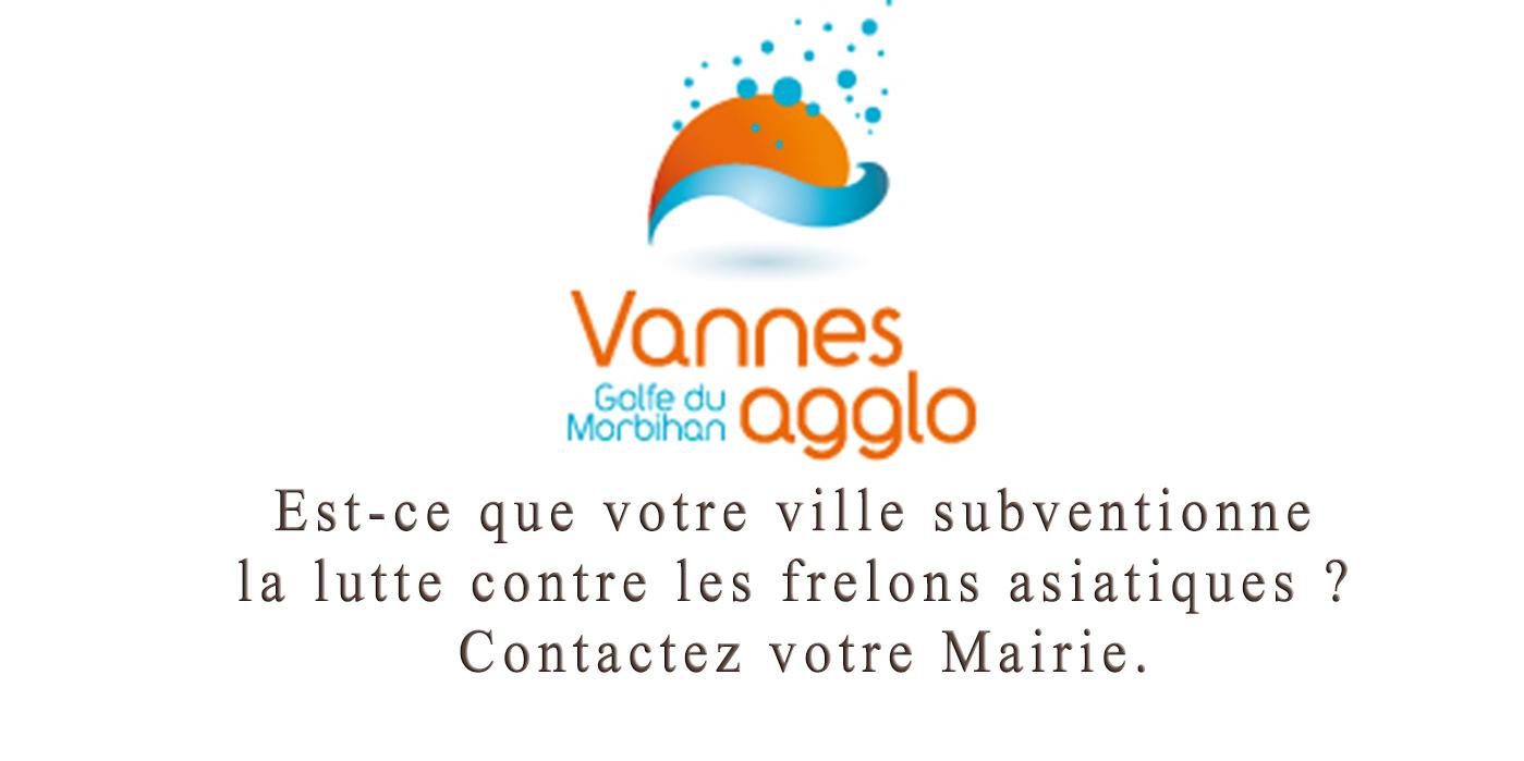 Vannes Agglo Subvention de luttre contre les frelons asiatiques